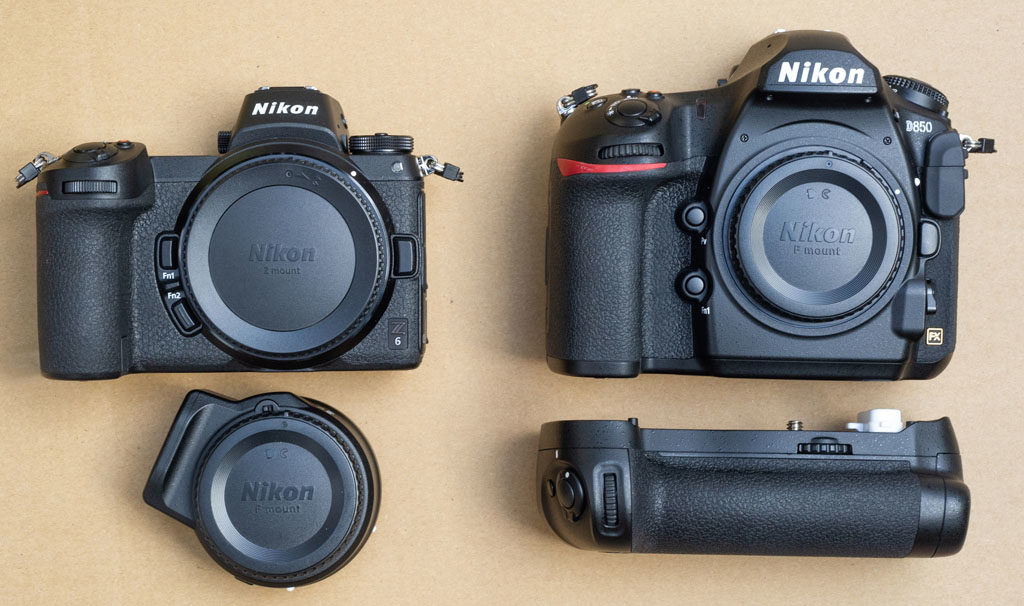Nikon Z6 vs. D850